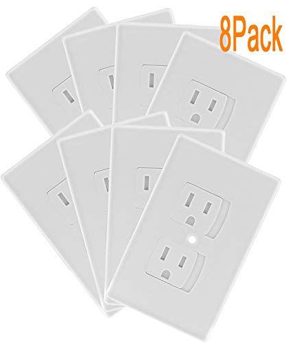 Self Closing Electrical Outlet Covers, Child Proof Safety Universal Wall Socket Plugs, Automatic ...
