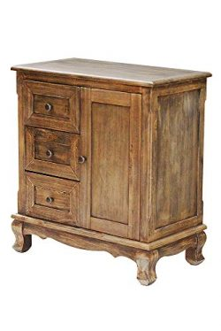 Heather Ann Creations W22350-FH 29.9″ Farm House Rustic Finish Pine Crest Collection 3 Dra ...