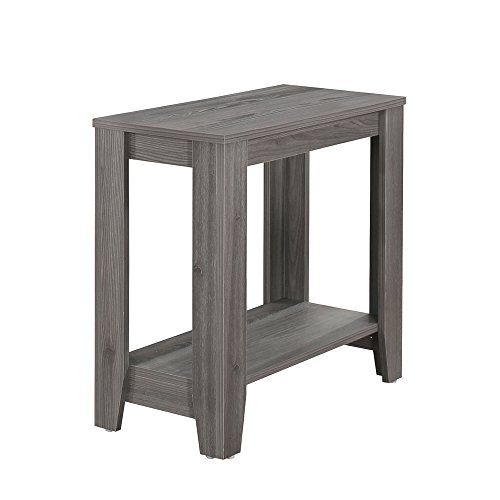 Monarch Specialties I I 3118 Accent Side lamp Table, 24″ x 12″ x 22, Grey