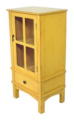 Heather Ann Creations Vivian Collection Traditional Handcrafted Wooden Accent Storage Cabinet, Y ...