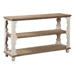Ashley Furniture Signature Design – Alwyndale Console Sofa Table – Antique White/Brown