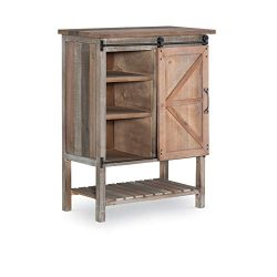 Powell Barrett Sliding Door Accent Chest in Brown