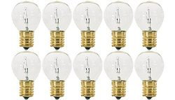 Pack Of 10 40S11/N/C 40 Watt S11 E17 Intermediate Base Hi-Intensity Light Bulbs, Clear