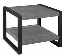 Homelegance Dogue 24″ Square End Table, Gray