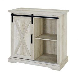WE Furniture AZF32ALXDWO Buffet, 32″, White Oak