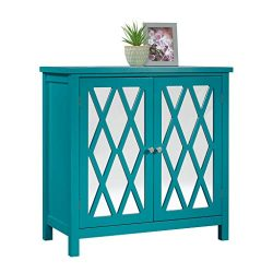 Sauder 419276 Harbor View Accent Storage Cabinet, L: 31.50″ x W: 15.75″ x H: 31.50&# ...