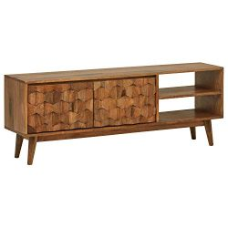 Rivet Emerly Contemporary Media Console Center Storage Cabinet, 57″W, Wood