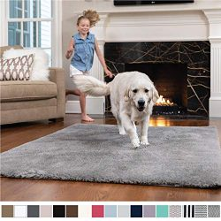 GORILLA GRIP Original Faux-Chinchilla Nursery Area Rug, (6′ x 9′) Super Soft and Coz ...