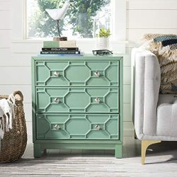 Safavieh CHS9201A Home Collection Izumi Turquoise 3 Chest of Drawers