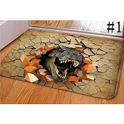 Kindsells 3D Dinosaur Print Floor Mat Carpet Soft Doormat Rugs for Bedroom Living Room Doormats