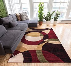 Well Woven Casual Modern Styling Shapes and Circles Area Rug 5×7 (5′ x 7'2̶ ...