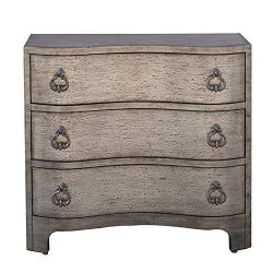 Home Fare Vintage Glam Three Drawer Accent Storage Chest