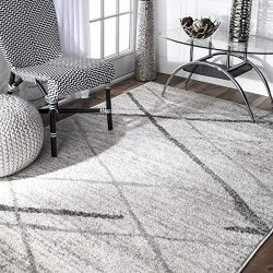 nuLOOM Contemporary Thigpen Area Rug, 5′ x 8′, Grey