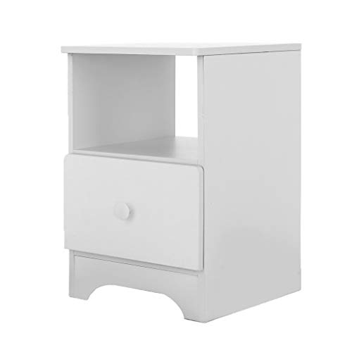 Small Nightstand,Jchen 【Ship from USA】 Bedside Table End Table with Drawer for Bedroom, Side T ...