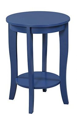 Convenience Concepts 7106259CBE American Heritage Round End Table, Cobalt Blue