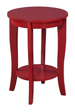 Convenience Concepts 7106259CR American Heritage Round End Table, Cranberry Red