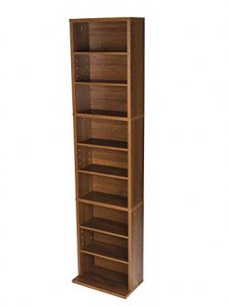 Atlantic Herrin Adjustable Media Cabinet – Holds 261CD, 114DV, 132 Blu-Ray/Games PN7473624 ...