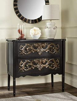 Safavieh American Homes Collection Lennox Black and Gold Chest
