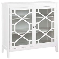 Riverbay Furniture 38″ Curio Cabinet in White