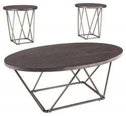 Ashley Furniture Signature Design – Neimhurst Occasional Table Set – Set of 3 &#8211 ...
