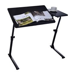 Fine Computer Desk, Home Office Desk Can Be Raised and Lowered Folding TV Tray, Portable Standin ...