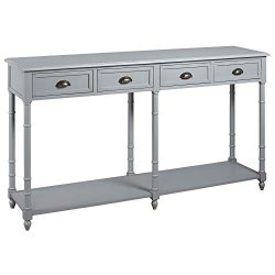 Ashley Furniture Signature Design – Eirdale Console Sofa Table – Vintage Casual R ...
