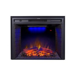 "Flameline 30"" Roluxy Electric Fireplace Insert with Remote Control,Log Speaker,750/1500W,B ..."