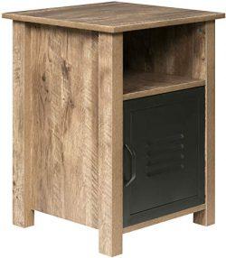 OneSpace 50-JN23ET Norwood Range Locker End Table, Oak