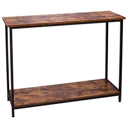 IRONCK Vintage Console Table for Entryway, Entry Table with Shelf, Sofa Side Table for Entryway  ...