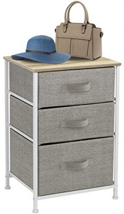 Sorbus Nightstand with 3 Drawers – Bedside Furniture & Accent End Table Chest for Home ...