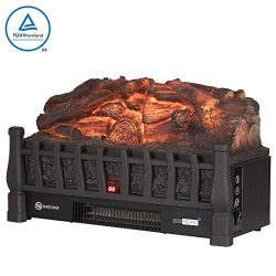 VIVOHOME 110V Electric Insert Log Quartz Fireplace Realistic Ember Bed Fan Heater Plus Infrared  ...