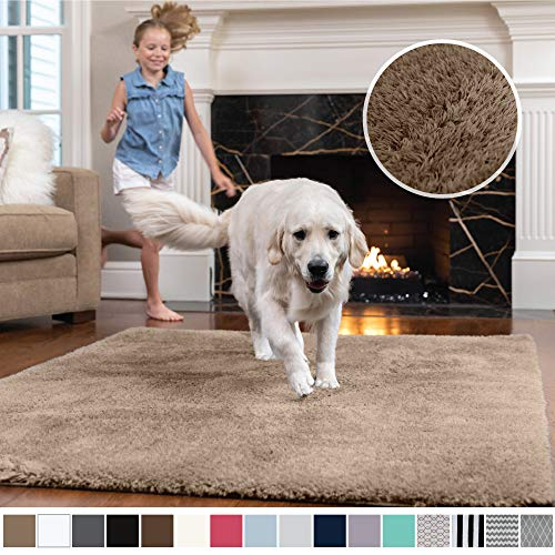 Gorilla Grip Original Faux-Chinchilla Area Rug, 5×7 Feet, Super Soft and Cozy High Pile Was ...