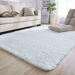 junovo Rectangle Ultra Soft Area Rugs Fluffy Carpets for Bedroom Living Room Shaggy Floor Rug Ho ...