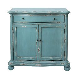 Pulaski DS-D115003 French Country Distressed Blue Door Chest Cabinet