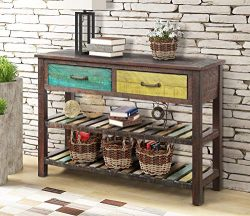 P PURLOVE Console Table Sofa Table Console Tables for Entryway Hallway Bathroom Living Room with ...