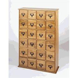 Bowery Hill 40″ 24 Drawer Storage Cabinet in Oak