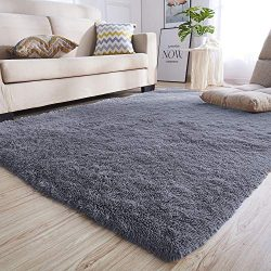 Junovo Rectangle Ultra Soft Area Rugs Fluffy Carpets for Bedroom Living Room Shaggy Floor Rug Ho ...