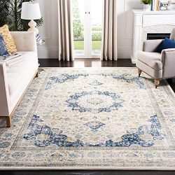 Safavieh Evoke Collection Vintage Oriental Ivory and Blue Area Rug (9′ x 12′)