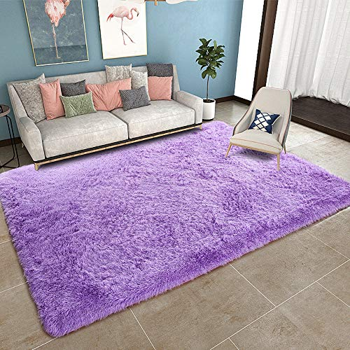 YOH Super Soft Shag Area Fur Rugs Fluffy Nursery Rugs Area Rugs for Bedroom and Living Room Shag ...