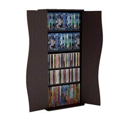 Atlantic 35″ Venus Small Media Storage Shelf & Cabinet (198 CDs, 88 DVDs, 180 BluRays) ...