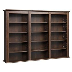 Prepac Triple Wall Mounted  Storage Cabinet, Espresso