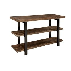 Sonoma 48″ L Reclaimed Wood Media/Console Table with 2 Shelves, Natural