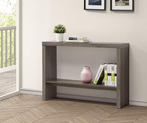 Weathered Grey 2-Tier Entryway Console Sofa Table