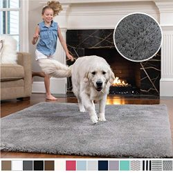 Gorilla Grip Original Faux-Chinchilla Area Rug, 7.5×10 Feet, Super Soft and Cozy High Pile  ...