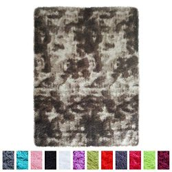 PAGISOFE Ultra Soft Shag Patterned Area Rugs Carpets for Bedroom Living Room Kids Dorm Room Nurs ...