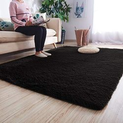 Noahas Super Soft Modern Shag Area Rugs Fluffy Living Room Carpet Comfy Bedroom Home Decorate Fl ...