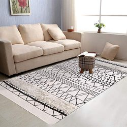 Tufted Cotton Area Rug, KIMODE Hand Woven Print Tassels Throw Rugs Carpet Door Mat,Indoor Area R ...