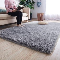 Noahas Ultra Soft Shaggy Area Rugs Fluffy Living Room Carpet Bedroom Fur Rug Anti-Skid Child Pla ...