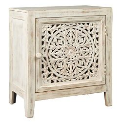 Ashley Furniture Signature Design – Fossil Ridge Accent Cabinet – White