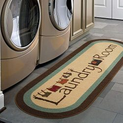 Ottomanson LA4058O-2X5 Laundry Runner Rug, 20″ x 59″, Brown Border